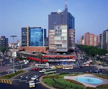Peru, Lima, Miraflores Square